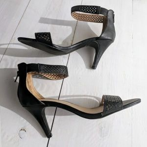 Lane Bryant ankle strap black sandals